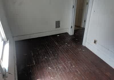 Decker Property Fire Damaged Original Flooring