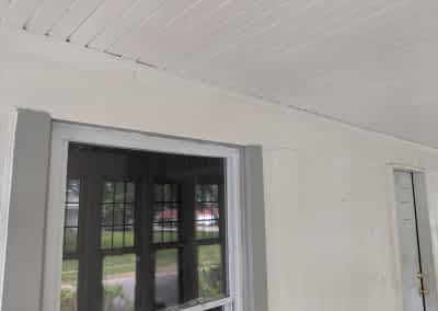 Decker Property Front Porch with soot Damage Restoration