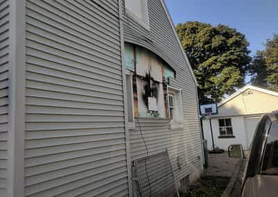 Struck and Sons   DeCarlos Property fire damage