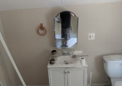 Decker Property Fire Damaged Bathroom from Fire and Soot