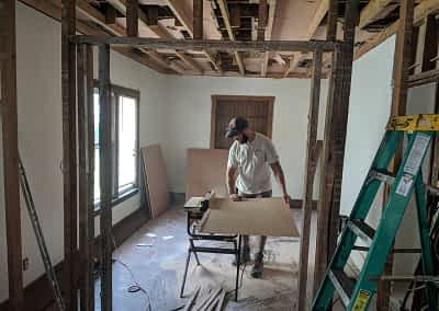 Decker Property Restoration in process