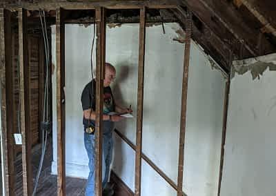 Decker Property Attic Fire Damage Restoration