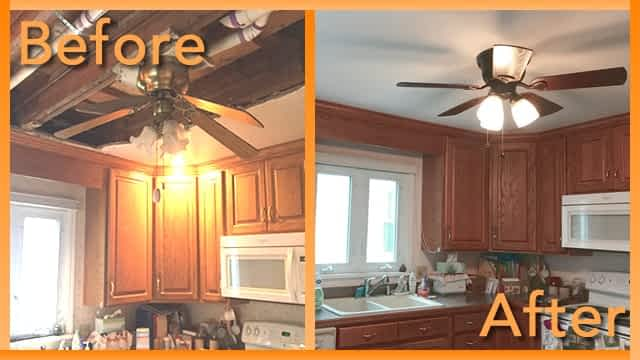 Struck and Sons Before and After, the kitchen of the Freeman home
