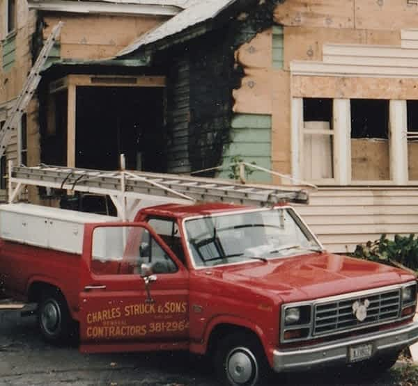 Historical photo of the Red Struck and Sons Truck