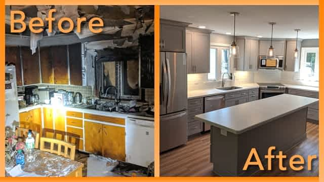 Struck and Sons Before and After, the kitchen of the Kusmiy home