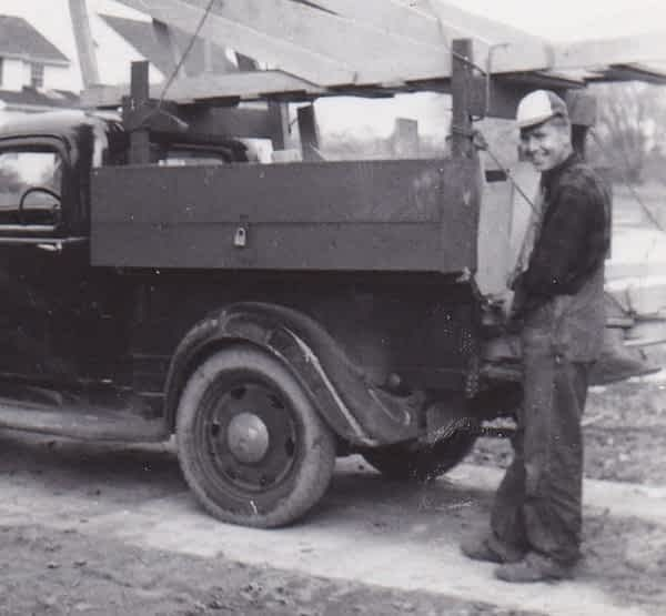 Charles Struck Historical Photo with truck